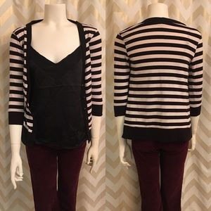 EUC BW Striped Cardigan Size Small